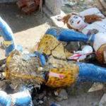 বুড়িচং পীরযাত্রাপুর কালি পূজায় মেয়েদের নাচ ভিডিও ধারনকে কেন্দ্র করে দুটি কালি প্রতিমা ভাঙ্গচুর
