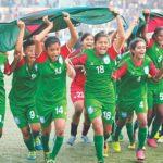 নয় ম্যাচে বাংলাদেশের বাংলাদেশ নারী ফুটবল দলের ৫৪ গোল