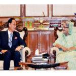 প্রধানমন্ত্রী শেখ হাসিনার সঙ্গে বৈঠক  করেছেন সাবেক রাষ্ট্রপতি এরশাদ