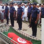 দাউদকান্দি পৌর আ'লীগ সভাপতি মুক্তিযোদ্ধা আহম্মদ উল্লাহ'র রাষ্ট্রীয় মর্যাদায় দাফন