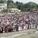 কুমিল্লা মুরাদনগরে যুবলীগ নেতা সাধনের জানাযায় হাজারো মানুষের ঢল