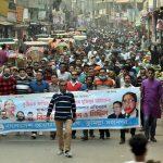 বঙ্গবন্ধুর ভাস্কর্য ভাঙচুর: তীব্র প্রতিবাদে উত্তাল কুমিল্লার রাজপথ