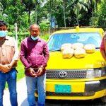 কুমিল্লায় ট্যাক্সিক্যাবে গাঁজা পাচারকালে ১০ কেজি গাঁজাসহ আটক যুবক