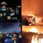 কুমিল্লার নাঙ্গলকোটে ভয়াবহ অগ্নিকান্ডে ১০ টি দোকান পুড়ে ছাই